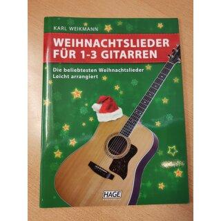 Weihnachten: Weihnachtslieder für 1-3 Gitarren